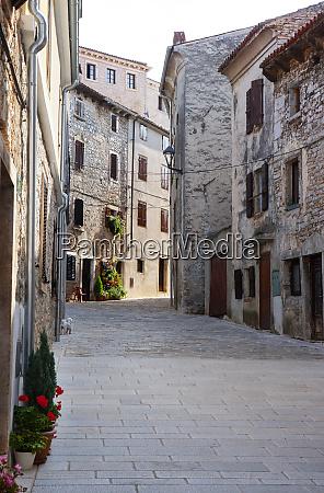 croatia istria bale old town empty