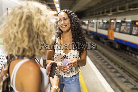 uk london two young women with