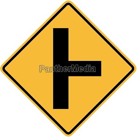 strada laterale destra perpendicolare