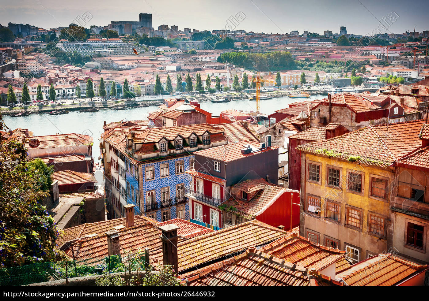 view, of, porto's, old, town, houses, - 26446932