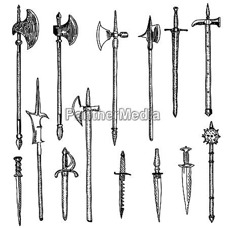 raccolta armi armi medievali