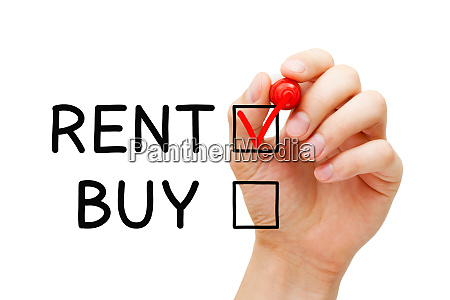 choosing to rent not to buy