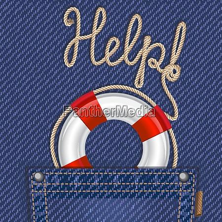 tasca jeans con cintura life e