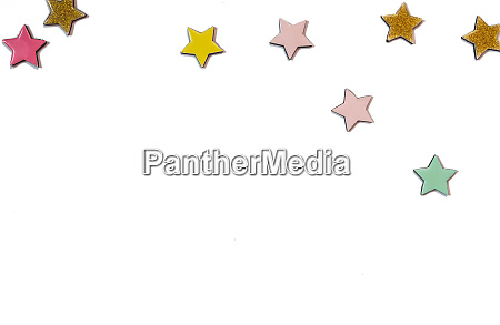 stars various colors isolated background colorful