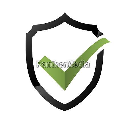 icona di controllo di sicurezza logoing