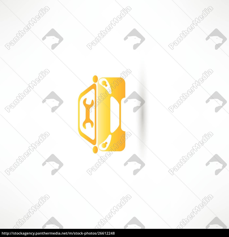 auto, anteriore, gialla - 26612248