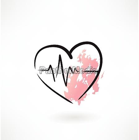 cardiologia cuore grunge icona