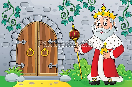 king by old door topic image