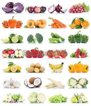 frutta e verdura collezione isolata mela