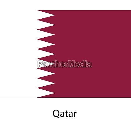 bandiera del paese qatar illustrazione vettoriale