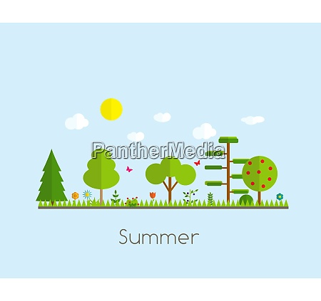 summer time background in modern flat
