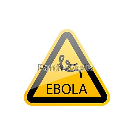 illustrazione segno epidemia ebola pericolo simbolo