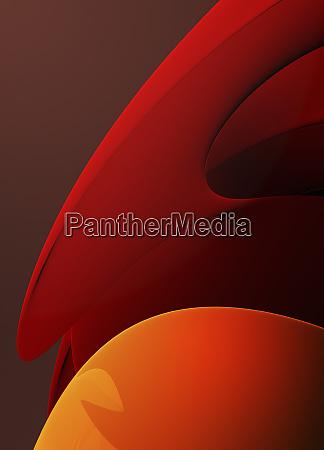 modello di curva arancione incandescente astratto