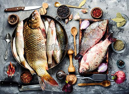 pesce fresco e ingredienti