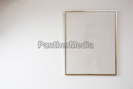 blank painting on white wall with