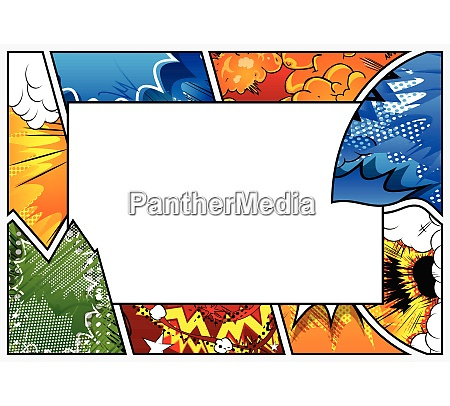 comic book background with big blank