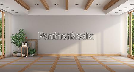 vuota camera grande minimalista