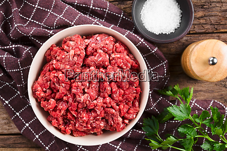fresh raw ground beef meat