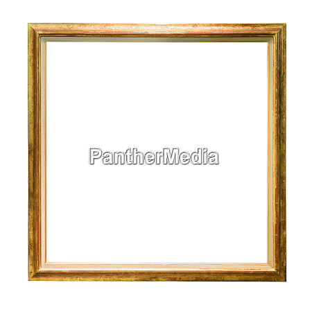 vintage golden decorative picture frame isolated