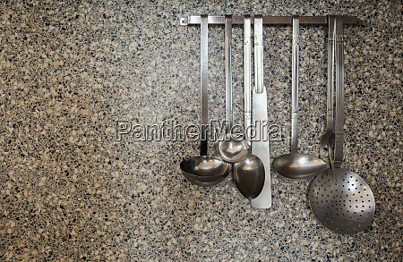 silver kitchen tools old gray rustic