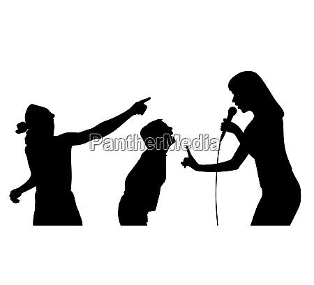 cantante fan fan donna canto pubblico