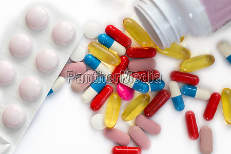 meny different pills strips and capsules