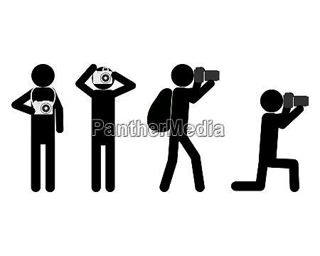 menschen mit kameras