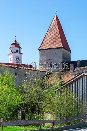 historic medieval tower in dollnstein