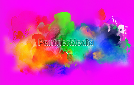 colorful watercolor and gouache textures background