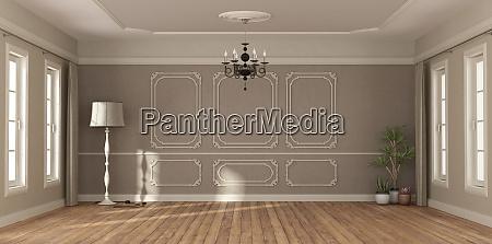 camera vuota in stile classico