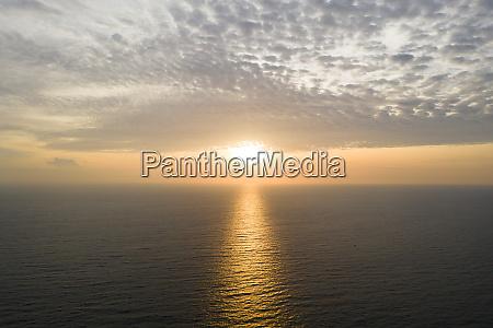 vista aerea del bellissimo mare e