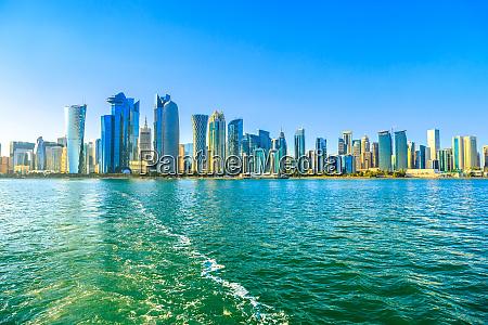 paesaggio, urbano, di, doha, west, bay - 27054710