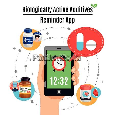 tempo promemoria smartphone app su biologico