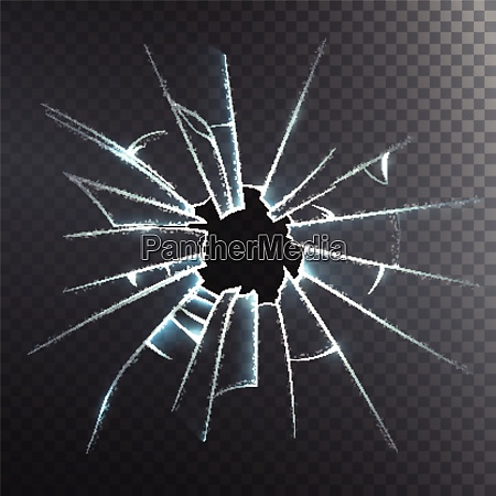 accidentally broken frosted window pane or