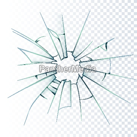 broken frosted window pane or front