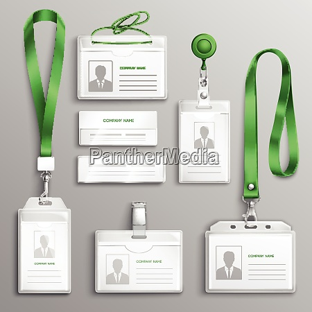 clear plastic badges id cards holders