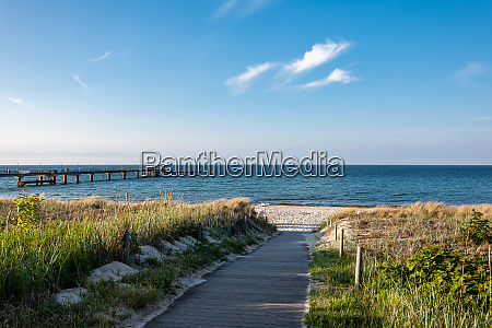 baltic sea coast with pier in