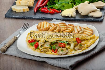 rustic vegetarian omelette