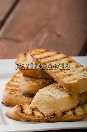 garlic toast mini baguettes fresh and
