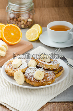 french toast to sweet with banana
