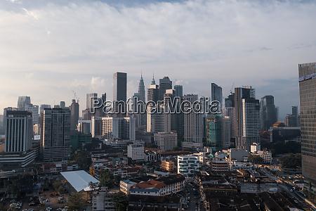 vista aerea dello skyline della citta