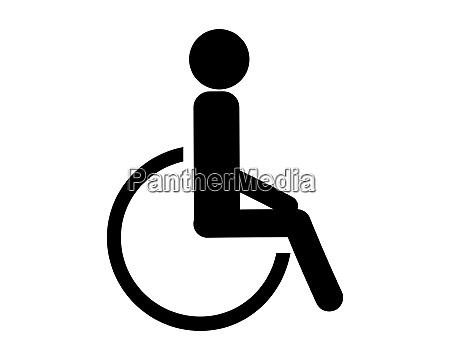 simbolo per menschen mit rollstuhl