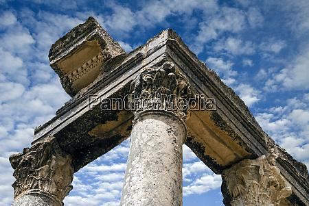 roman ruins temple of juno caelestis