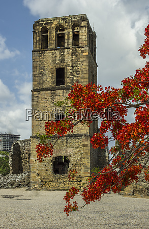panama unesco the ancient cathedral tower