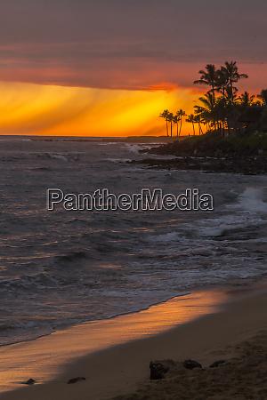 usa hawaii kauai lawai beach at