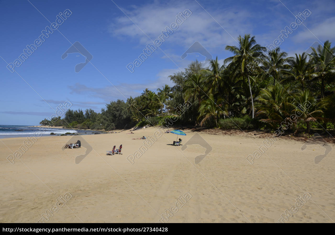sunbathers, at, ha'ena, state, park, , ke'e - 27340428