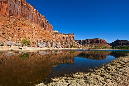usa utah canyonlands national park reflection