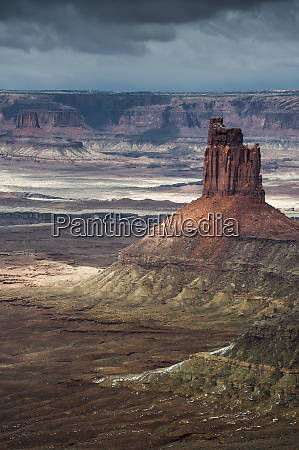 usa utah rock formations from the