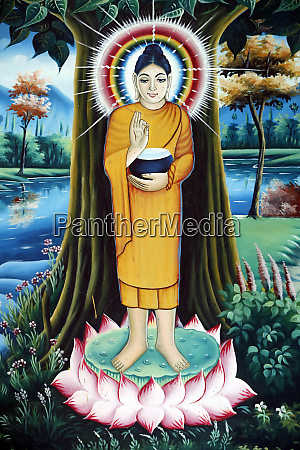 pagoda buddista pitu khosa rangsay dipinto