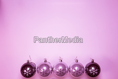 pink christmas ball baubles isolated on